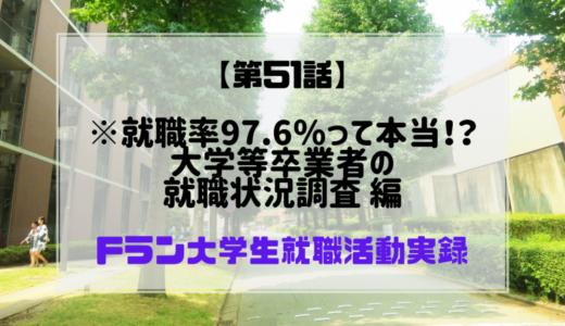 【第51話】※就職率97.6%って本当!?大学等卒業者の就職状況調査 編 Fラン大学生就職活動実録
